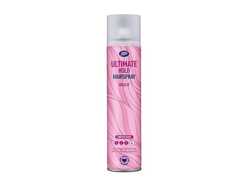 Boots Ulitmate Hold Hairspray Hold It, 300 mL/10.1 fl oz