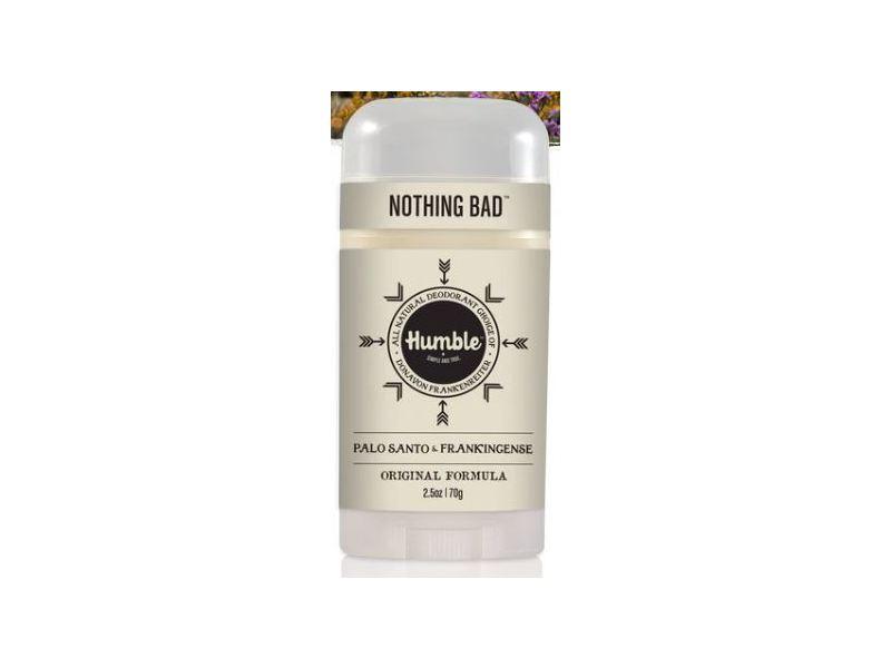 Humble Nothing Bad All Natural Deodorant, Palo Santo Frankincense & Vanilla, 2.5 oz