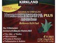 Kirkland Hydrocortisone %1 Cream 4 Tubes 2oz Each - Image 2