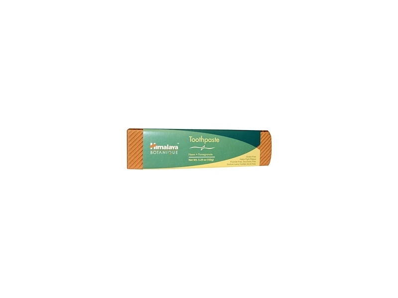 Himalaya Neem and Pomegranate Fluoride- Free Natural Toothpaste, SLS Free, 5.29 oz