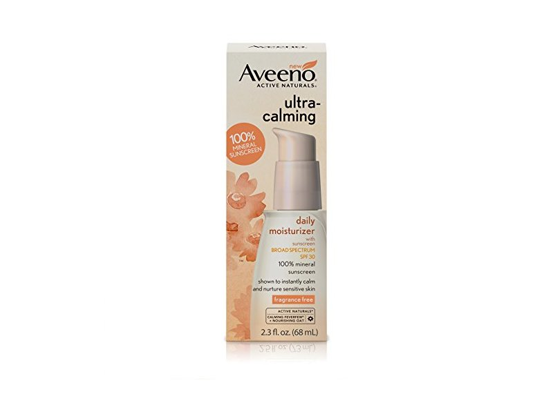 Aveeno Ultra-Calming Daily Moisturizer for Sensitive Skin with SPF 30, 2.3 fl. oz