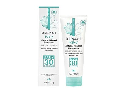 Derma E SPF 30 Baby Natural Mineral Sunscreen, 4 Ounce
