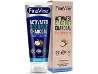 Fine Vine Activated Coconut Charcoal Toothpaste, Mint, 4 oz - Image 2