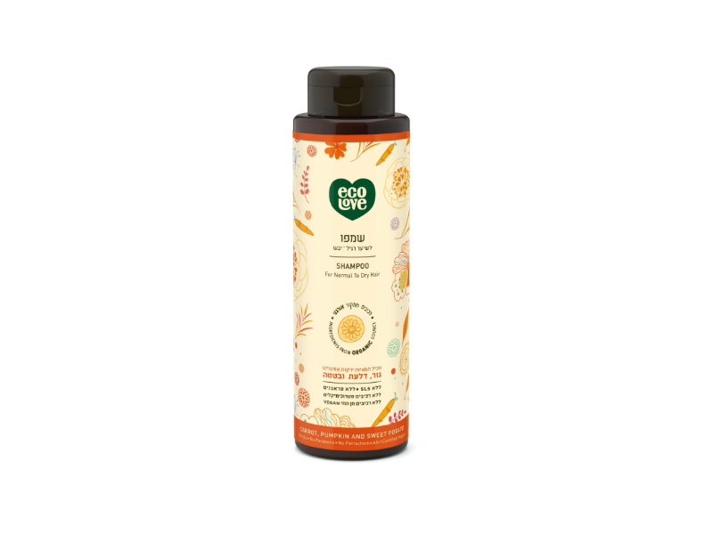 EcoLove Shampoo for Normal to Dry Hair, Orange, 500 mL