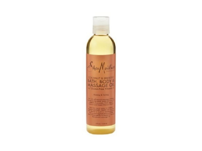 Shea Moisture Bath, Body & Massage Oil, Coconut & Hibiscus, 8 fl oz