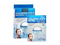 AZURE Hyaluronic Acid & Retinol Anti Aging Sheet Face Mask, 5 count - Image 2