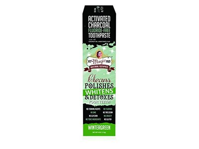 My Magic Mud, Activated Charcoal Coconut Oil & Bentonite Clay Whitening Toothpaste, Wintergreen, 4 oz - Image 1