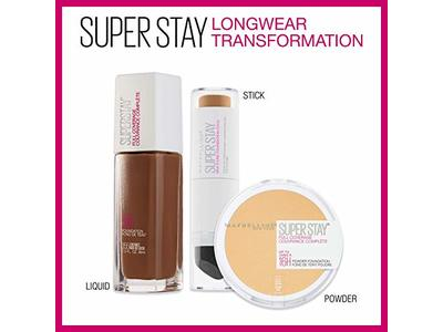 Maybelline New York Super Stay Full Coverage Powder Foundation Makeup Matte Finish, Buff Beige, 0.18 Ounce - Image 9