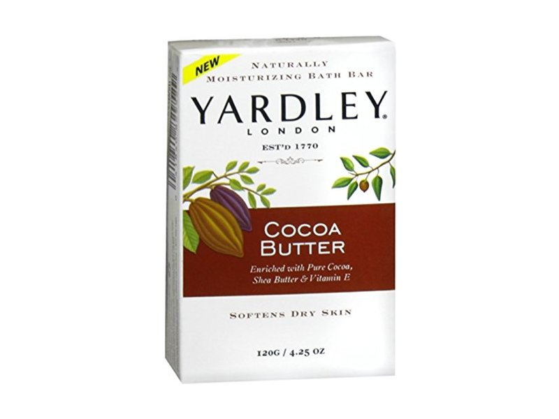 Yardley London Cocoa Butter Naturally Moisturizing Bath Bar, 4.25 ounce