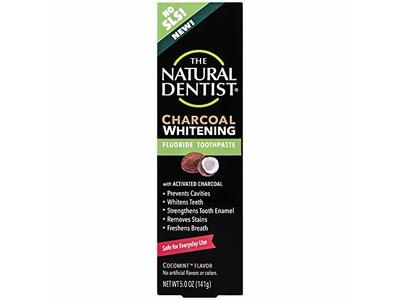 The Natural Dentist Charcoal Whitening Fluoride Toothpaste 5 Ounce