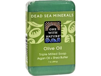 One With Nature Dead Sea Bar Soap Olive 7 Oz
