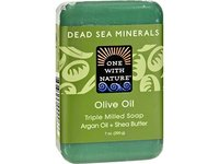 One With Nature Dead Sea Bar Soap Olive, 7 oz - Image 2