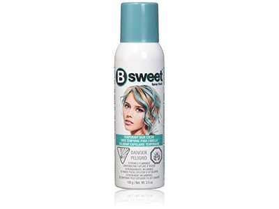 Jerome Russell B Sweet Hair Chalk Spray Temporary Hair Color, Perfectly Peacock