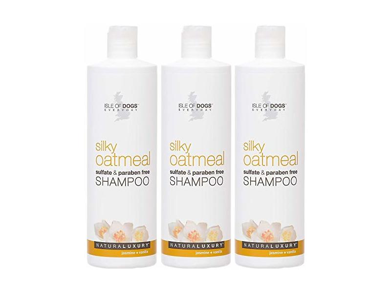 Isle of Dogs 3 Pack of Silky Oatmeal Jasmine + Vanilla Shampoo for Dogs, 16 oz