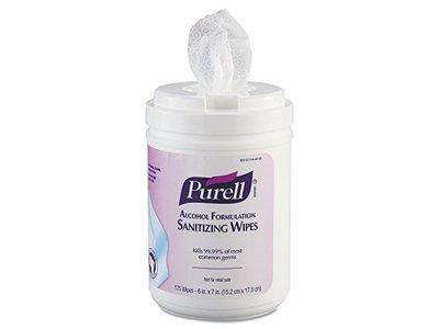 Purell Hand Sanitizing Wipes, Fragrance Free, Alcohol Formula, 175 Wipes