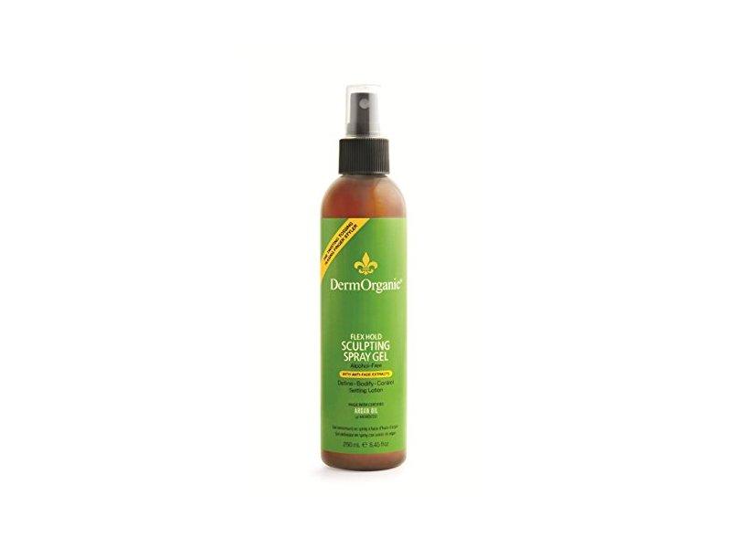 DermOrganic Flex Hold Sculpting Anti-Fade Spray Gel with Argan Oil - Alcohol-Free, 8.45 fl.oz