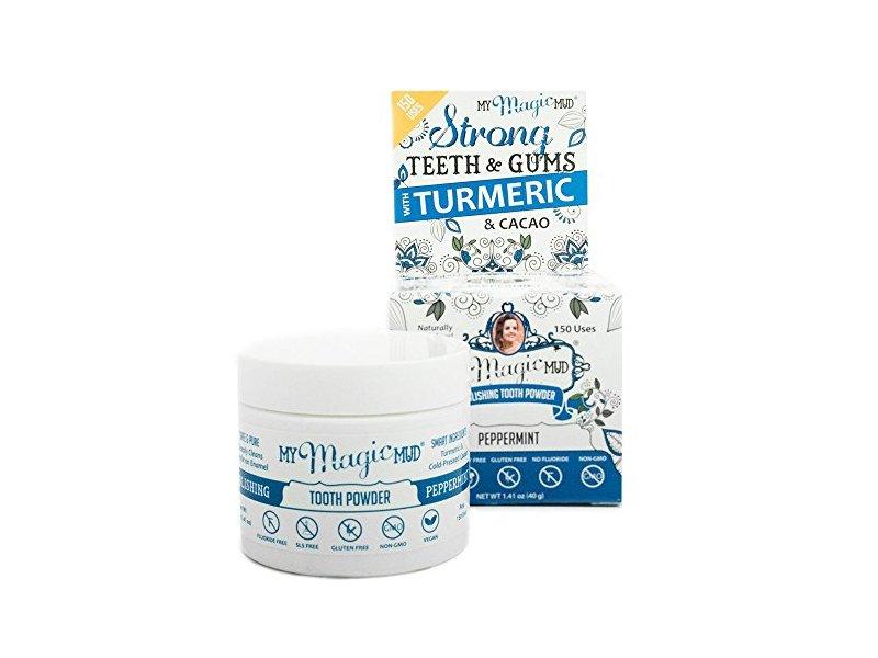 My Magic Mud Turmeric Tooth Powder, Peppermint, 40g