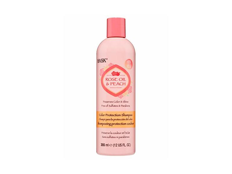 Hask Rose Oil & Peach Shampoo, 12 fl oz