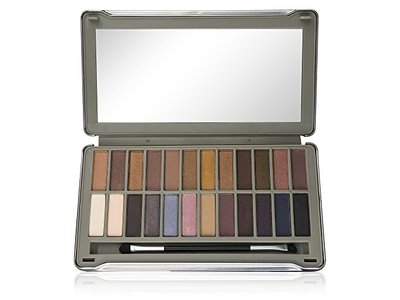 Ellen Tracy 24-Well Eye Shadow Palette in Tin Box, Day to Night, Nudes + Smoky