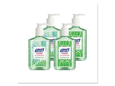 Purell GOJO Advanced Instant Hand Sanitizer With Aloe, 8 Oz Bottle