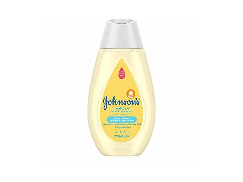 Johnson's Head-to-Toe Wash & Shampoo, 3.4 fl oz / 100 mL
