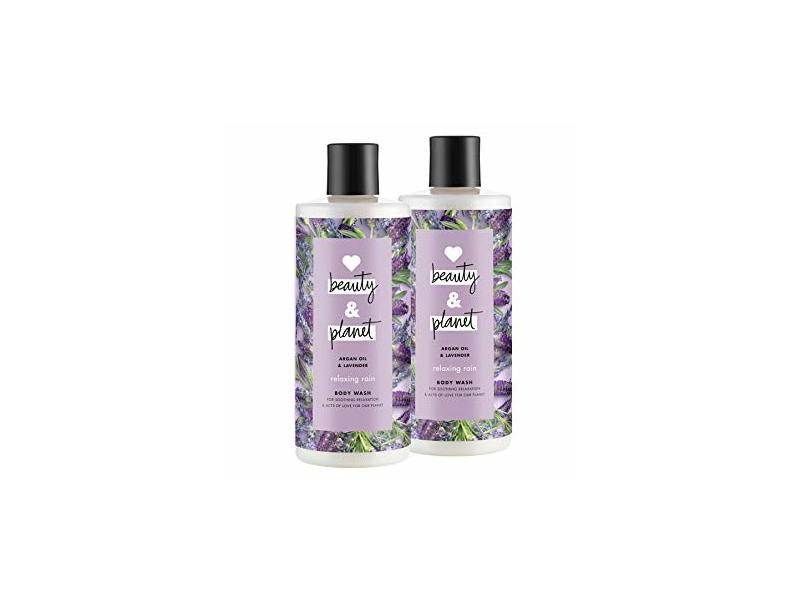 Love Beauty & Planet Relaxing Rain Body Wash, Argan Oil & Lavender, 16 oz