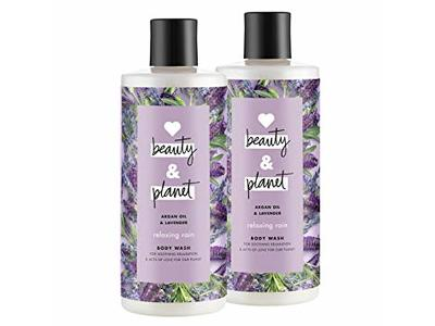 Love Beauty & Planet Relaxing Rain Body Wash, Argan Oil & Lavender, 16 oz - Image 1