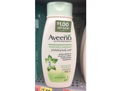 Aveeno Active Naturals Positively Radiant Exfoliating Body Wash, 18 fl oz - Image 3