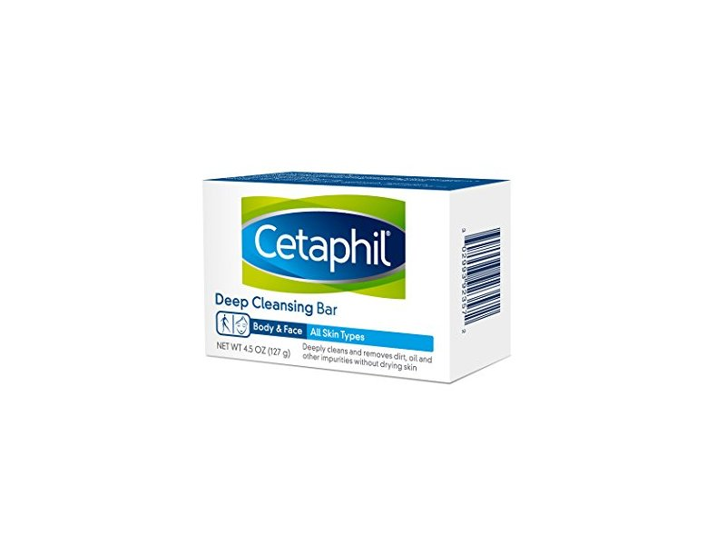 Cetaphil Deep Cleansing Face & Body Bar for All Skin Types, 4.5 oz