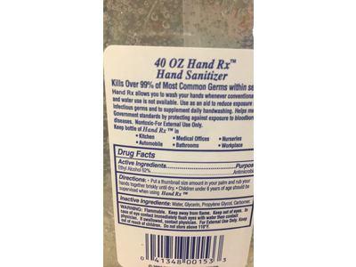Hand RX Instant Hand Sanitizer, 40 fl oz - Image 4
