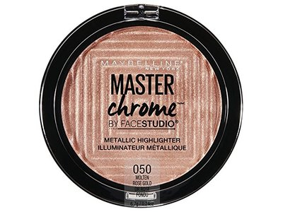 Maybelline New York Facestudio Master Chrome Metallic Highlighter Makeup, Molten Rose Gold, 0.24 oz. - Image 1