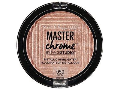 Maybelline New York Facestudio Master Chrome Metallic Highlighter Makeup, Molten Rose Gold, 0.24 oz. - Image 1