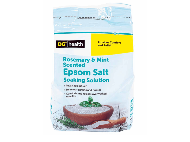 Dollar General Epsom Salt Soaking Solution, Rosemary & Mint, 3 Lb
