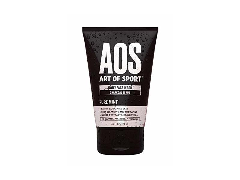 Art of Sport Daily Face Wash Charcoal Face Scrub, 4.2 fl oz