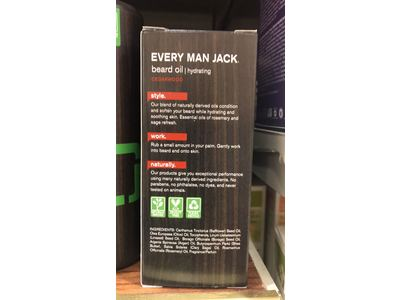 Every Man Jack Beard Oil, Cedarwood, 1 fl oz - Image 4
