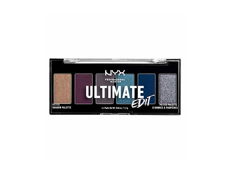 NYX Professional Makeup Ultimate Edit Petite Shadow Palette, Ash, 0.04 Ounce