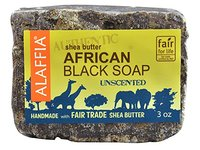 Alaffia Authentic Shea Butter African Black Soap, Unscented, 3 oz - Image 3