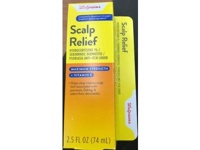 Walgreens Maximum Strength Scalp Relief, 2.5 fl oz