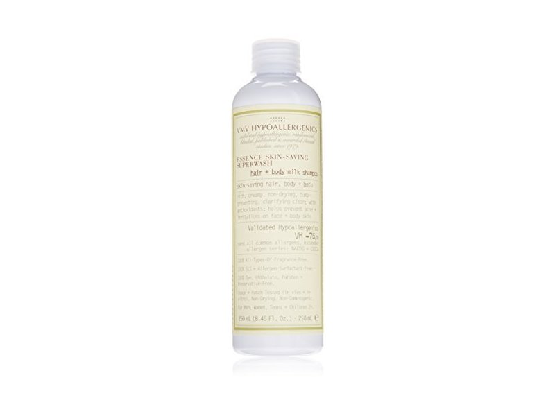 VMV Hypoallergenics Essence Skin-Saving Superwash: Hair + Body Milk Shampoo, 8.45 fl oz