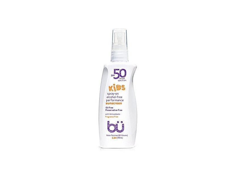 bu SPF 50 Kids Fragrance Free Sunscreen Spray, 3.3 Ounce