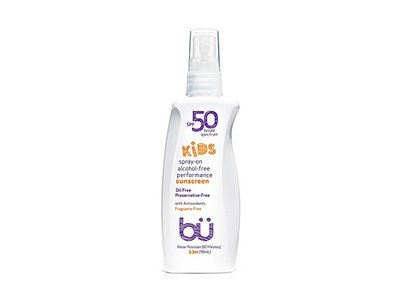 bu SPF 50 Kids Fragrance Free Sunscreen Spray, 3.3 Ounce - Image 1