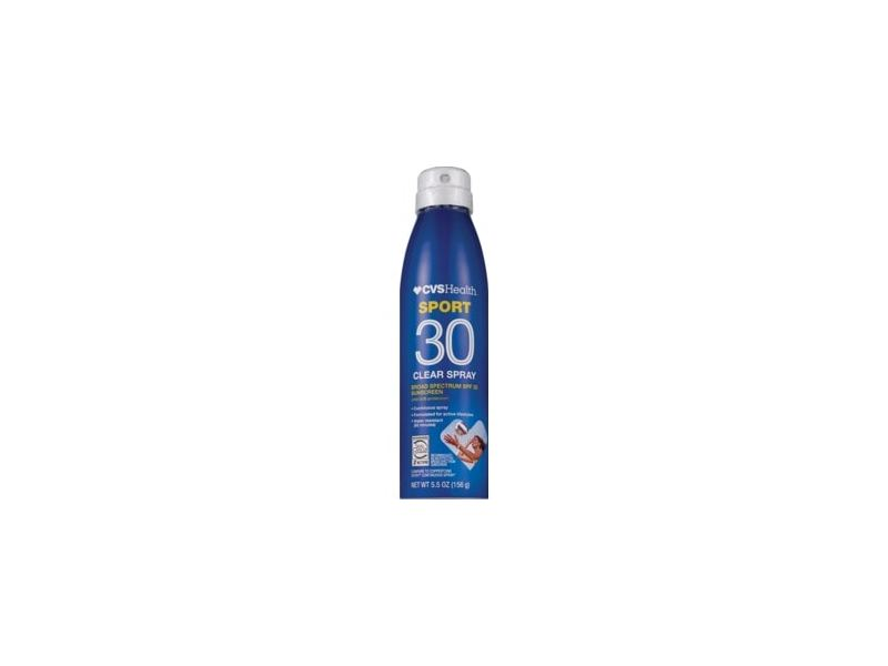 CVS Health Sport Clear Broad Spectrum Sunscreen Spray, SPF 30