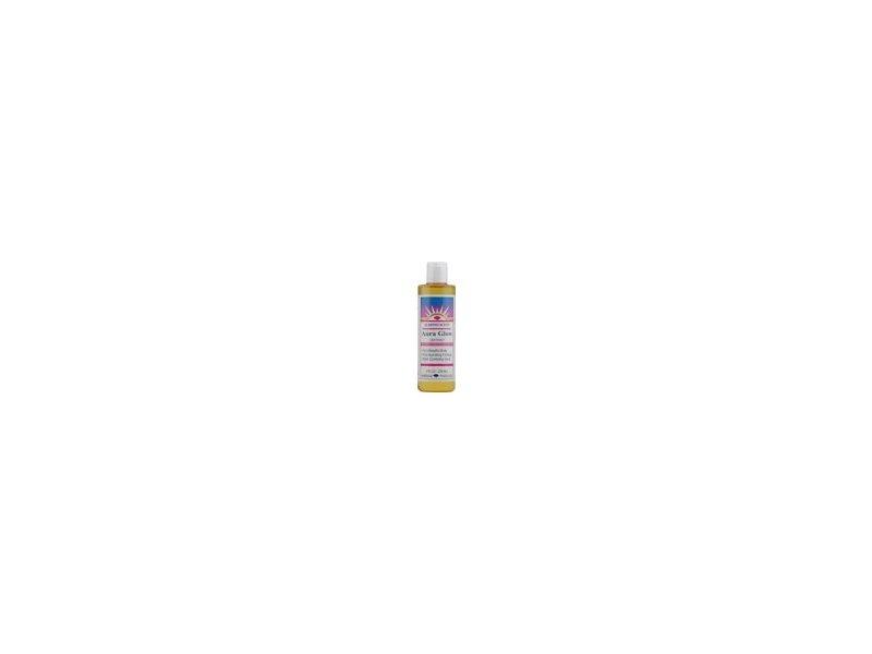 Heritage Store Aura Glow Massage Oil-Almond 8 oz Liquid