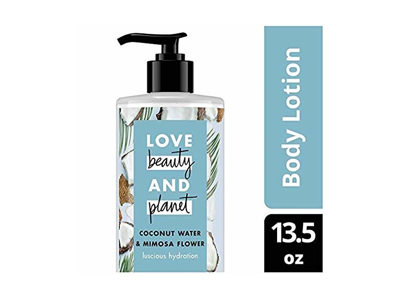Love Beauty and Planet Coconut Water & Mimosa Flower Body Lotion, Luscious Hydration, 13.5 fl oz (Pack of 2)