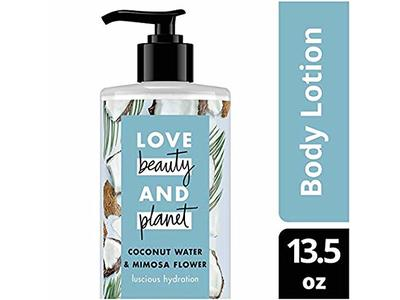Love Beauty and Planet Coconut Water & Mimosa Flower Body Lotion, Luscious Hydration, 13.5 fl oz (Pack of 2) - Image 1