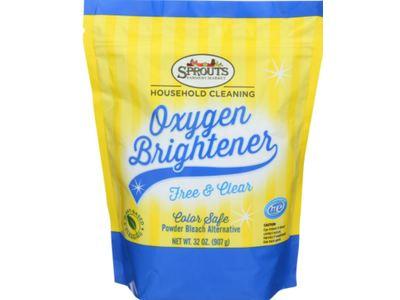 Sprouts Oxygen Brightener Powder Bleach Alternative, Free & Clear, 32 oz