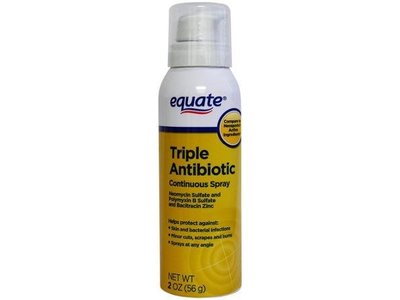 Equate Triple Antibiotic Ointment Continuous Spray, 2 oz