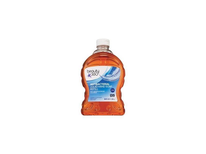Beauty 360 Antibacterial Liquid Hand Soap Refill, Clean