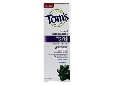 Tom's Of Maine Peppermint Fluoride Whole Care Toothpaste
