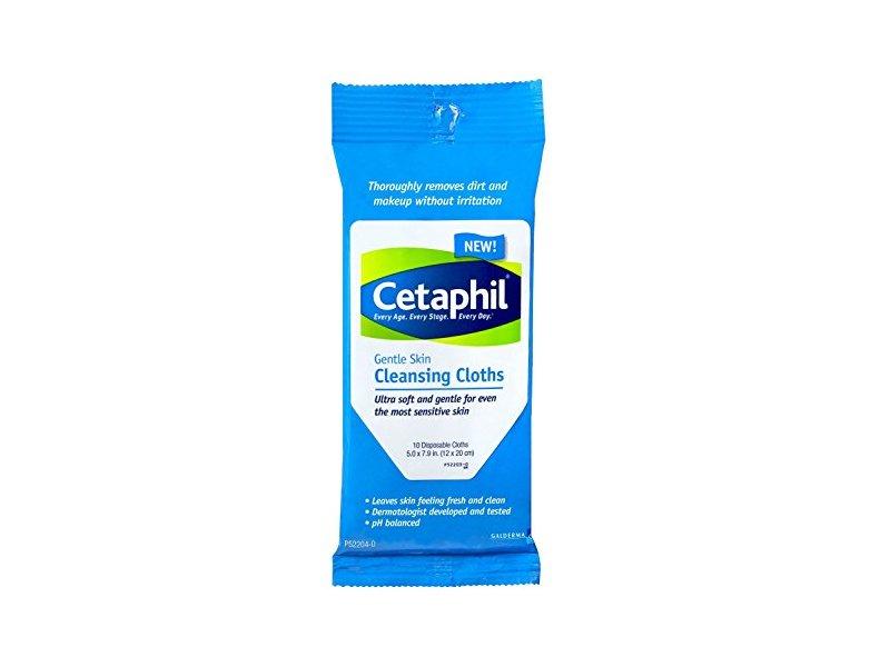Cetaphil Gentle Skin cleansing Cloths (Pack of 4) , 10 Count Each